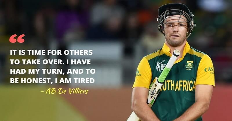 ab de villiers announces retirement