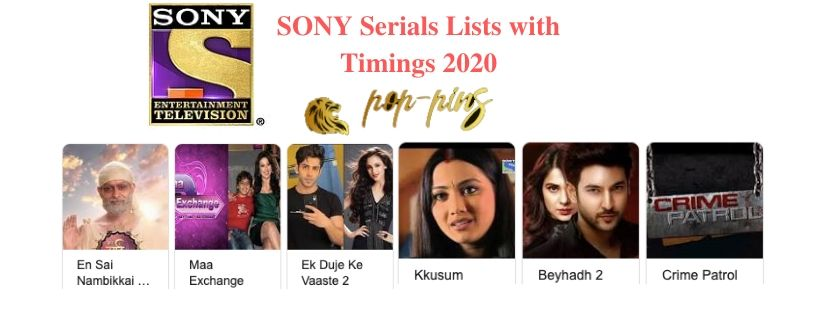 Sony TV serials list